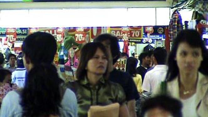 Orang-orang di Pusat Perbelanjaan