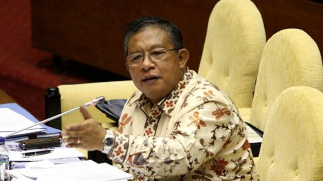 Menteri Koordinator Perekonomian Darmin Nasution di DPR.