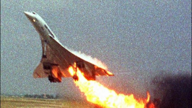 Pesawat Concorde saat lepas landas