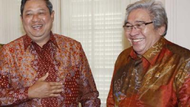SBY dan Taufiq Kiemas di Istana Bogor