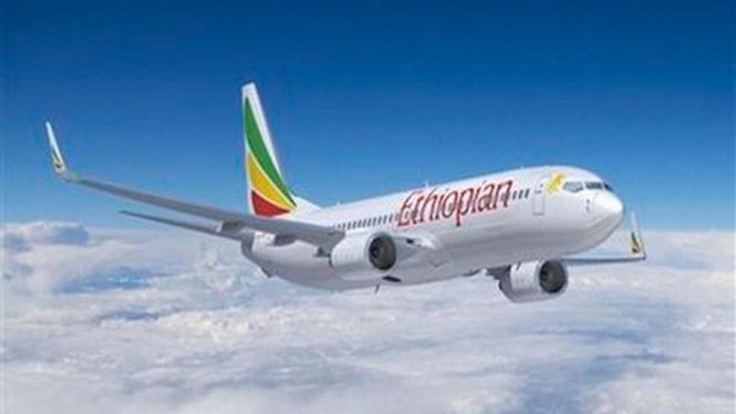 Pesawat Boeing 737-800 milik Ethiopian Airlines