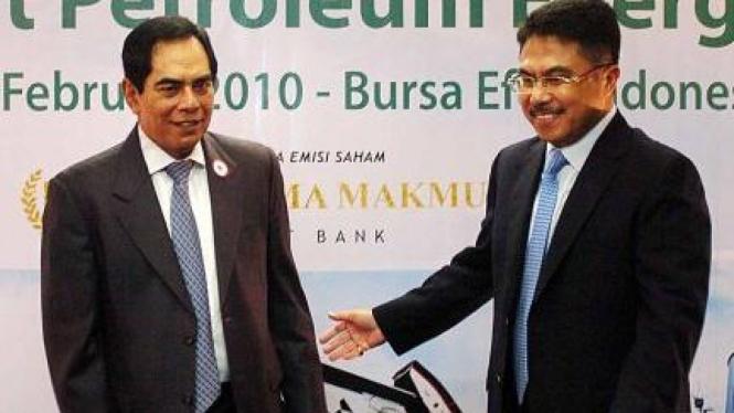 Direktur Utama BEI Ito Warsito & Komisaris Utama Benakat, Wismoyo Arismunandar
