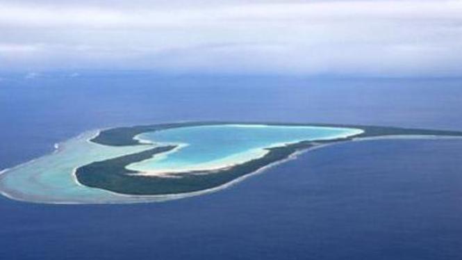 Pulau Tupai di Polinesia Prancis