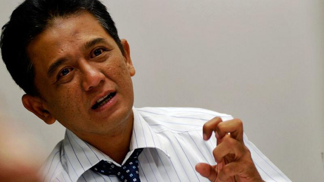 Pimpinan KPK Kunjungi VIVAnews : Chandra Hamzah
