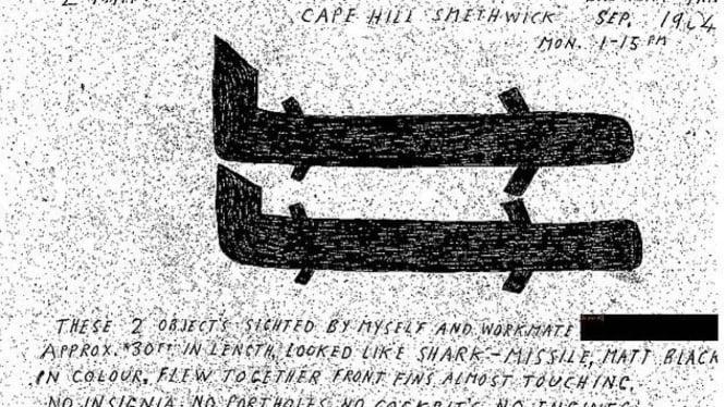 Salah satu gambaran laporan UFO