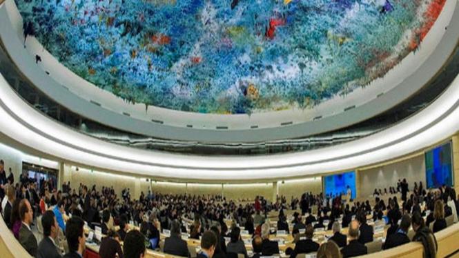 Suasana sidang tahunan Dewan HAM PBB di Jenewa, Swiss