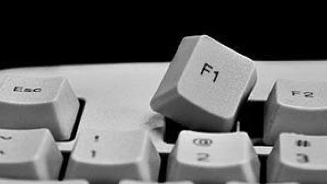 Tombol F1 di keyboard