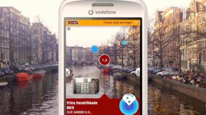 Salah satu aplikasi dari augmented reality di ponsel
