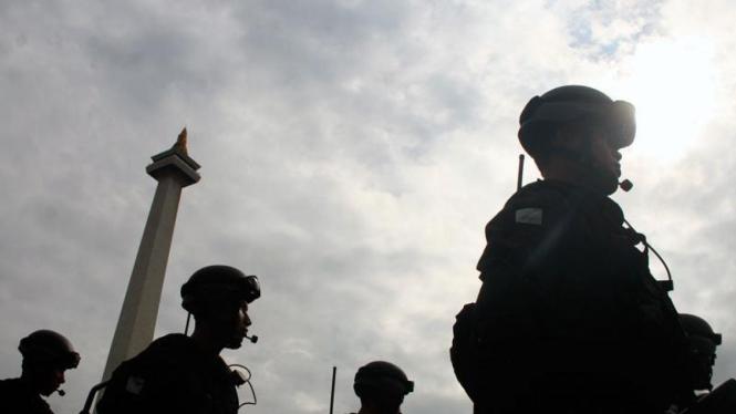 Latihan Gabungan Anti Teror TNI-Polri