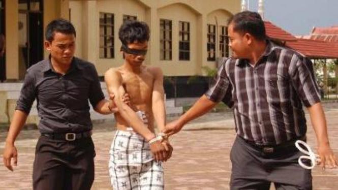 Satu dari 8 tersangka terorisme ditangkap di Aceh Besar