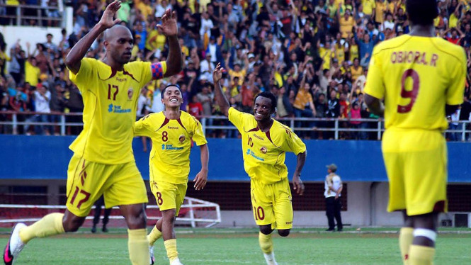 Pemain Sriwijaya FC: Keith Kayamba, Rahmat Rivai, Zah Rahan, Richard Obiora