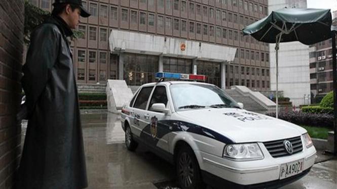 Mobil polisi China. Mobil polisi di negara ini akan segera dilengkapi alat pemindai wajah.