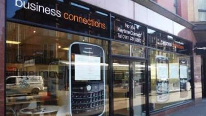 Salah satu toko yang menjual BlackBerry