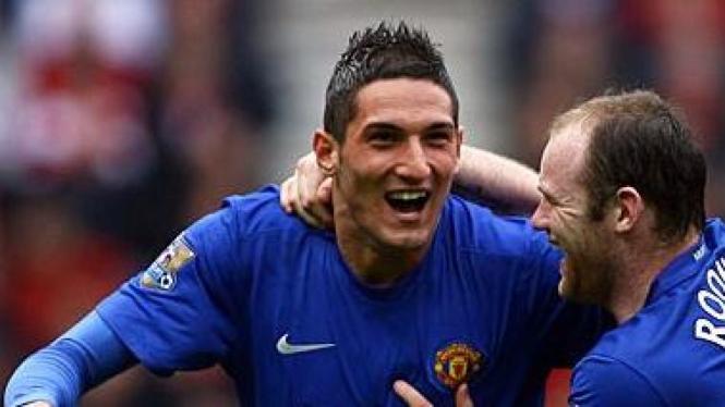 Frederico Macheda dan Wayne Rooney