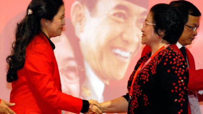 Kongres PDIP: Megawati&Puan Maharani