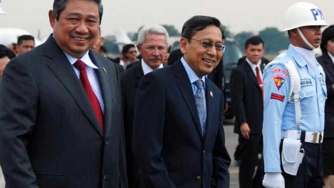 Presiden Susilo Bambang Yudhoyono Tiba di Halim