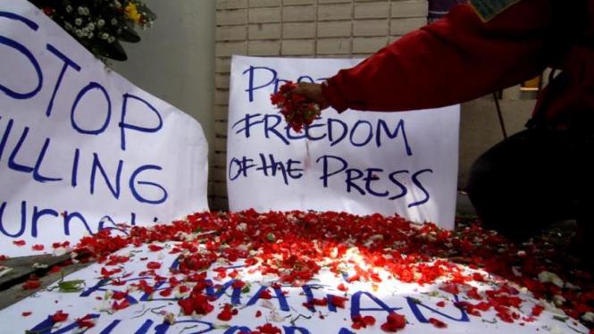 Tabur Bunga Solidaritas Jurnalis