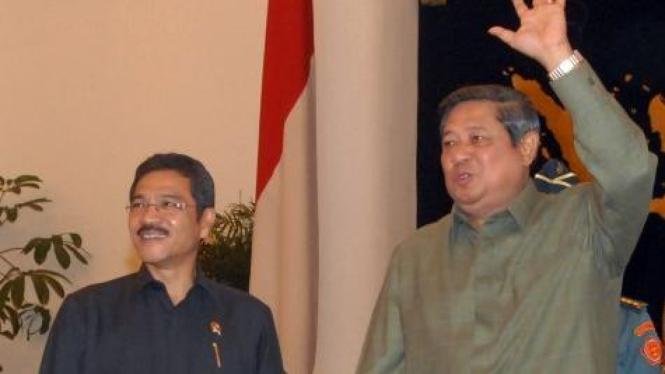 Gamawan Fauzi dan Susilo Bambang Yudhoyono (SBY)