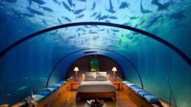 Kamar bawah laut di Conrad Maldives Rangali Island