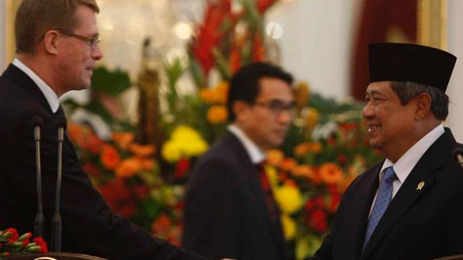 Presiden SBY dan PM Finlandia Matti Vanhanen