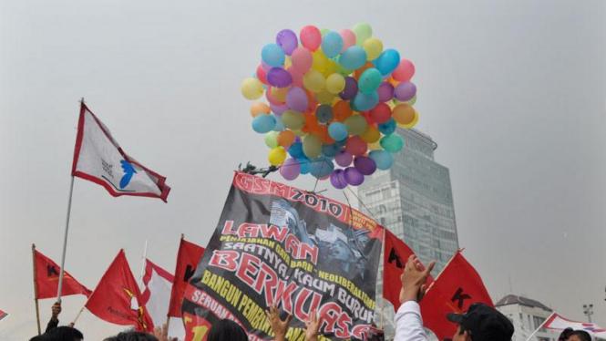 Demo Jelang Hari Buruh Sedunia