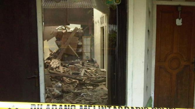 Lokasi ledakan di Duren Sawit, Jakarta Timur
