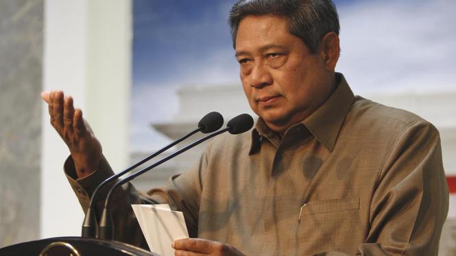 Presiden SBY jumpa pers pengunduran diri Menkeu Sri Mulyani