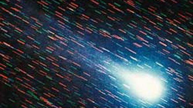 Tampilan Komet Halley pada 1986