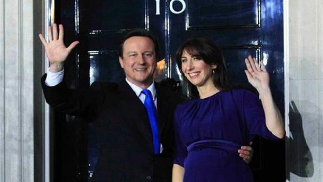 David Cameron dan istri