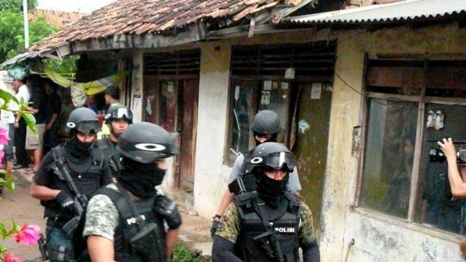 Lokasi penggerebekan teroris di Cikampek