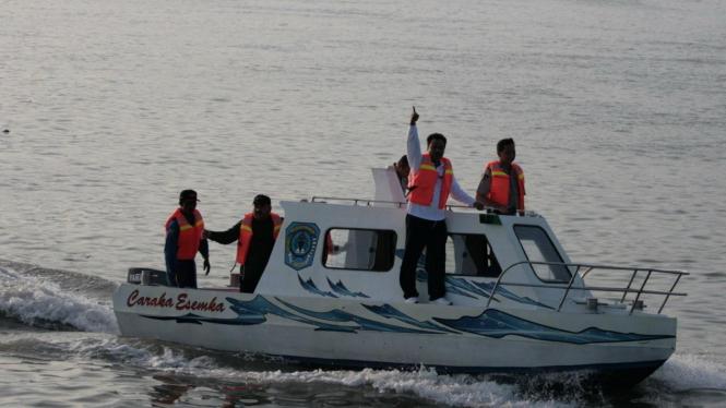 Kapal patroli buatan SMKN 3 Buduran Sidoarjo
