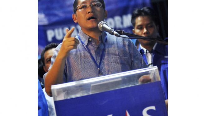 Anas Urbaningrum di Kongres Partai Demokrat