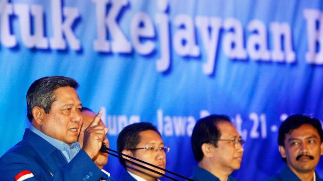 SBY, Anas Urbaningrum, Marzuki Alie, dan Andi Mallarangeng