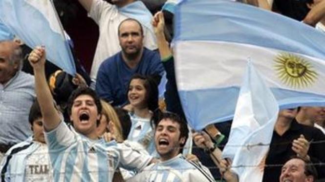 Pendukung timnas Argentina