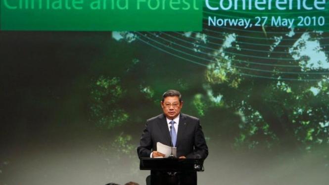 Presiden SBY di Konferensi Oslo untuk Kehutanan dan Perubahan Iklim