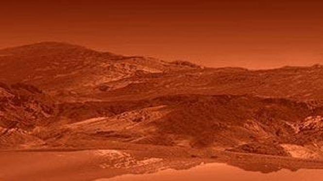 Ilustrasi danau di permukaan Titan