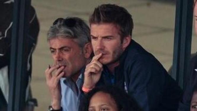 David Beckham jadi penonton di laga persahabatan AS vs Australia