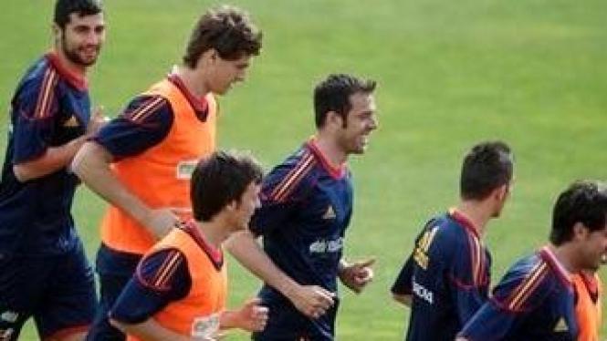 Latihan timnas Spanyol