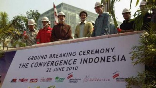 Peletakan batu pertama the Convergence, gedung baru Grup Bakrie