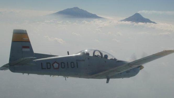 Pesawat KT-1B Wong Bee yang mengalami kecelakaan di Bali