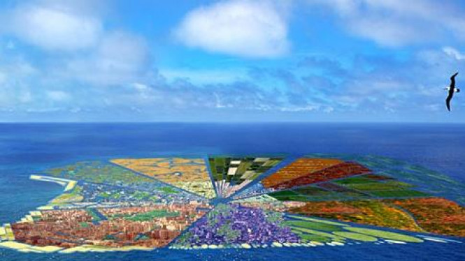 Rancangan pulau dari botol plastik