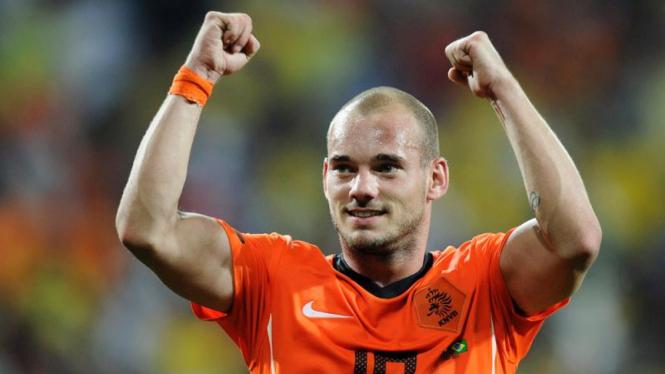 Pemain Belanda, Wesley Sneijder.