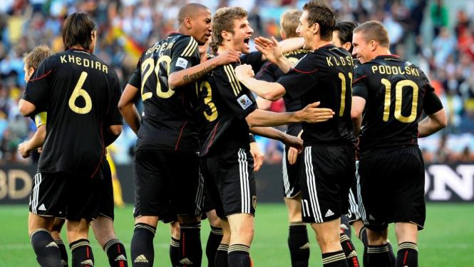 Timnas Jerman rayakan gol