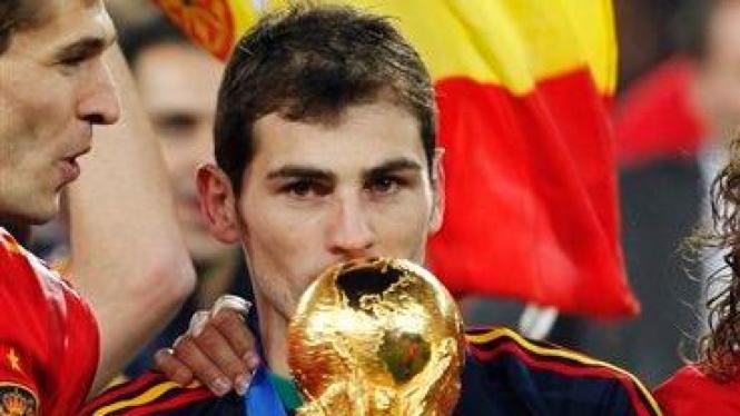 Iker Casillas, kiper dan kapten Spanyol di Piala Dunia 2010