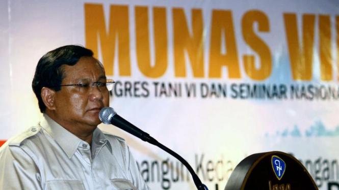 Prabowo Subianto Terpilih Kembali Sebagai Ketua HKTI