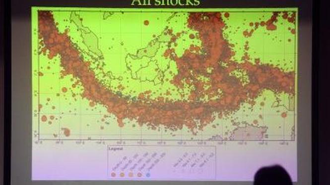 peta wilayah Indonesia yang berpotensi rawan gempa