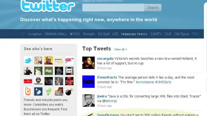 Iklan The Social Network di Twitter