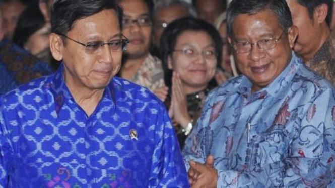 Boediono dan Darmin Nasution