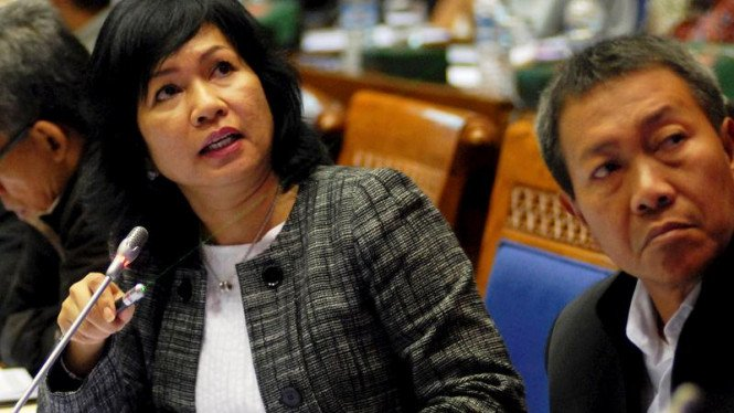 Dirut PT Pertamina, Karen Agustiawan rapat bersama Komisi VII DPR RI.