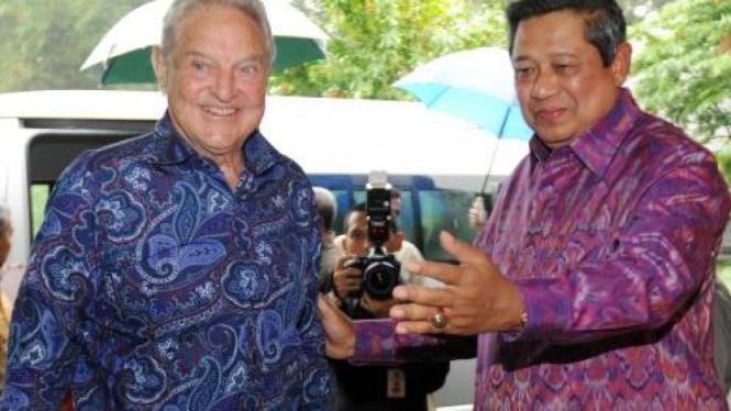 Presiden SBY menerima George Soros di Istana